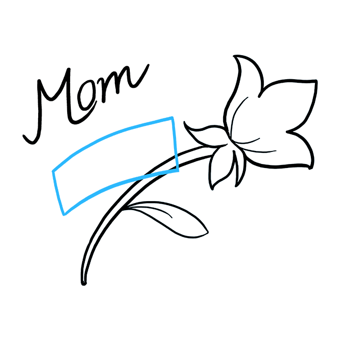 How to Draw Mother's Day Flower: Step 6