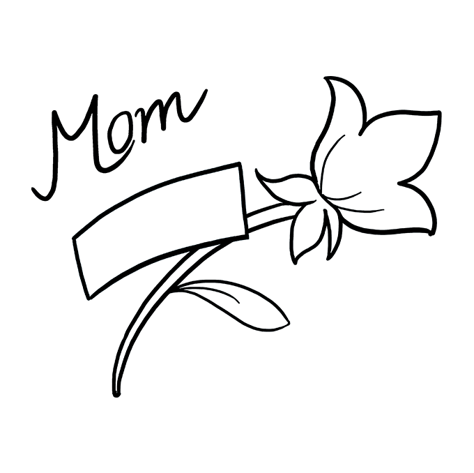 How to Draw Mother's Day Flower: Step 7