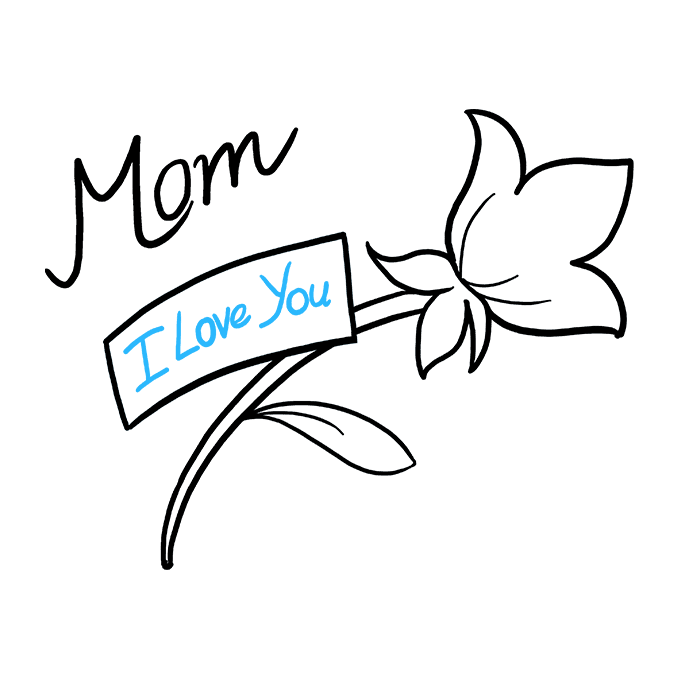 How to Draw Mother's Day Flower: Step 8