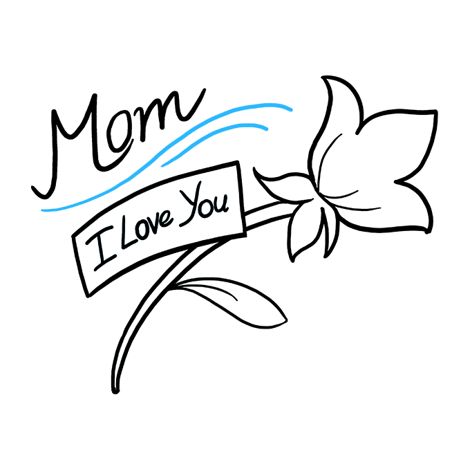How to Draw Mother's Day Flower: Step 9