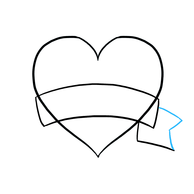 How to Draw Mother's Day Heart: Step 5