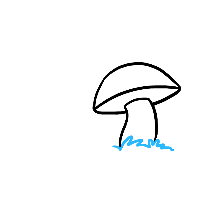 How to Draw Mushroom: Step 3
