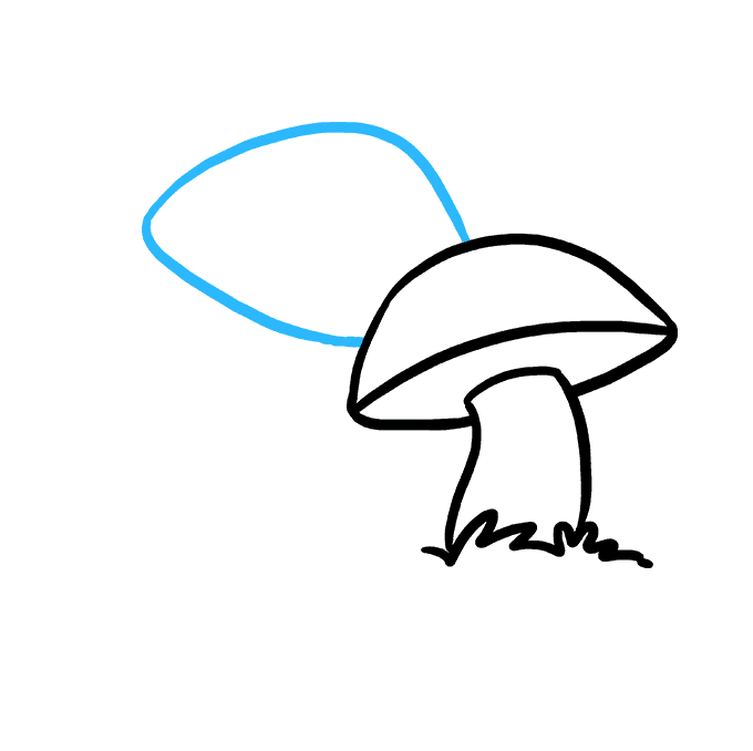 How to Draw Mushroom: Step 4