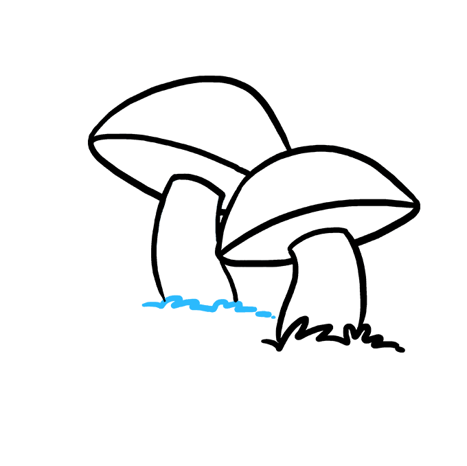 How to Draw Mushroom: Step 6