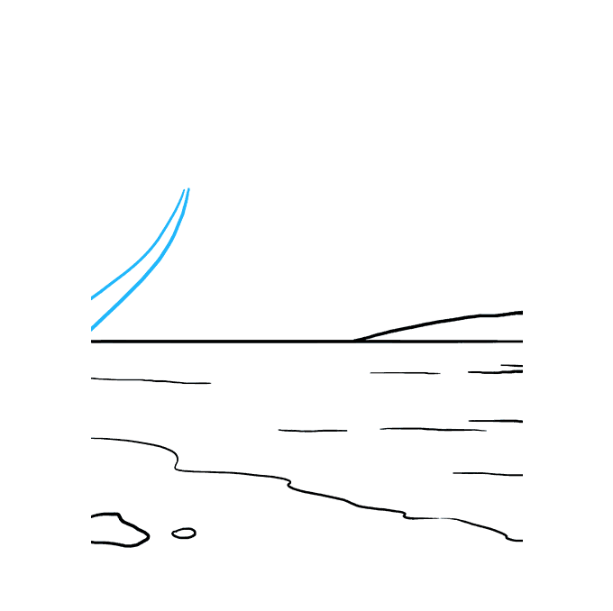 How to Draw Ocean: Step 5