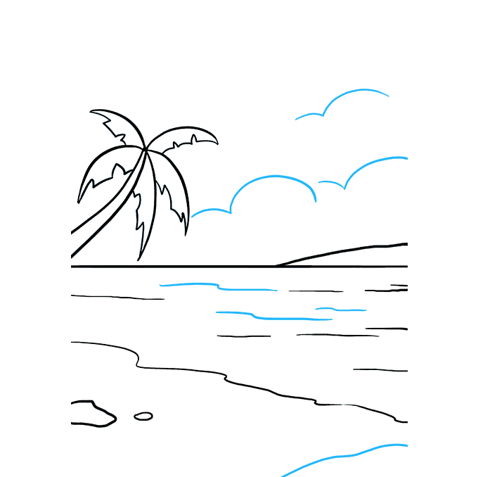 How to Draw Ocean: Step 9