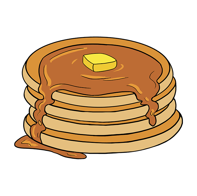 How to Draw Pancakes: Step 10