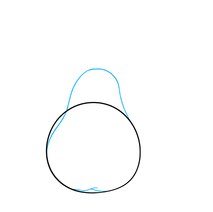 How to Draw a Pears Step 02