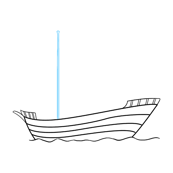 How to Draw Pirate Ship: Step 6