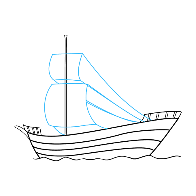 How to Draw Pirate Ship: Step 7