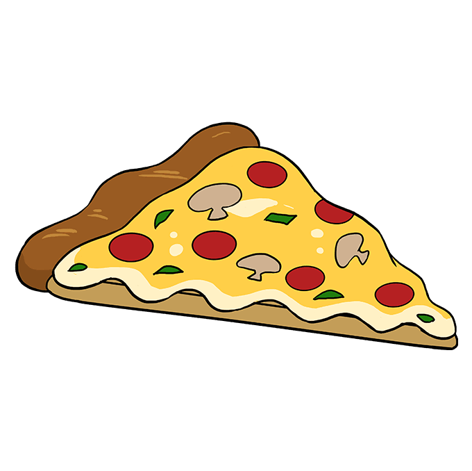 How to Draw Pizza: Step 10