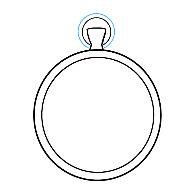 How to Draw Pocket Watch: Step 5