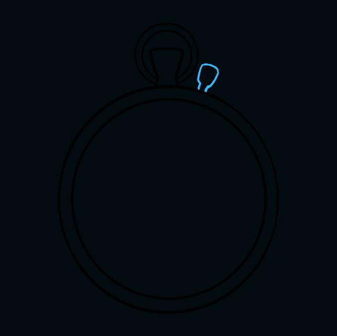 How to Draw Pocket Watch: Step 6