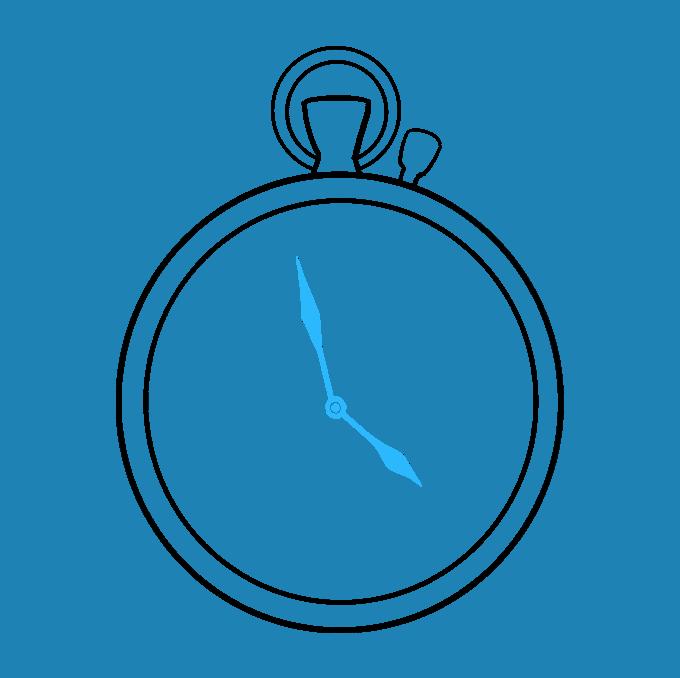 How to Draw Pocket Watch: Step 7
