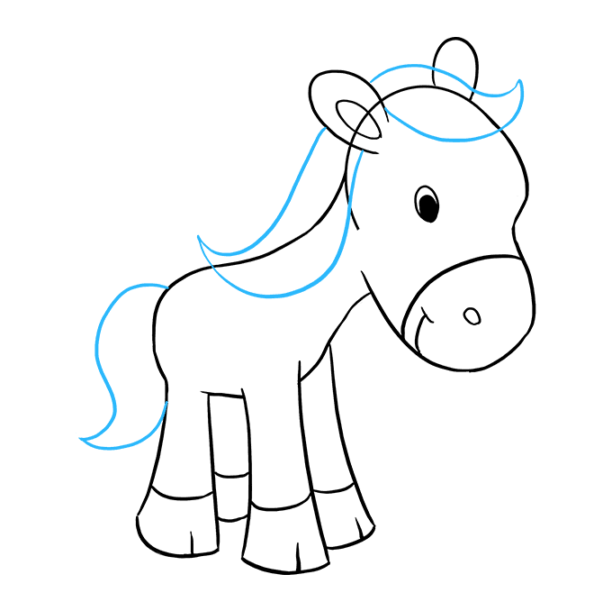 How to Draw Pony: Step 7