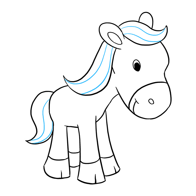 How to Draw Pony: Step 9