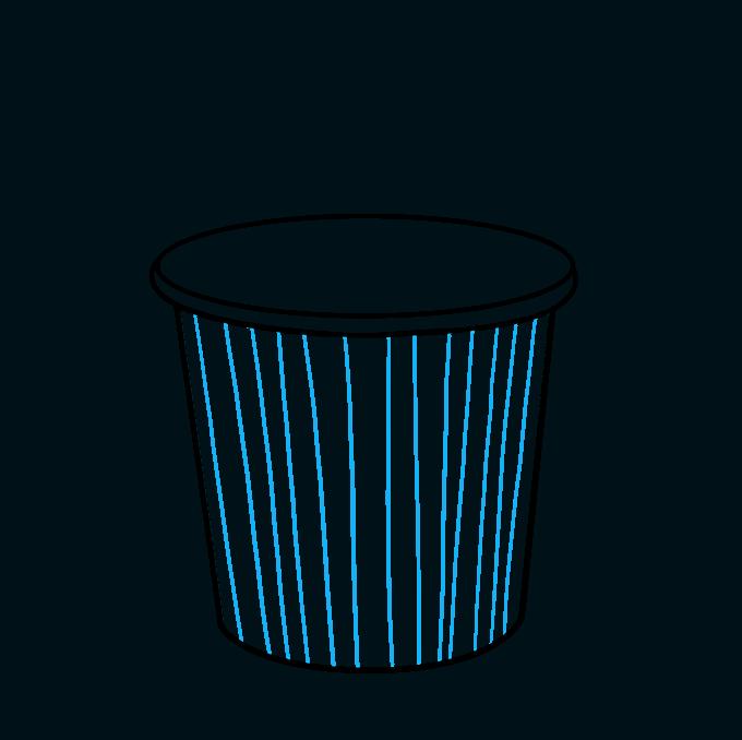 How to Draw Popcorn: Step 4
