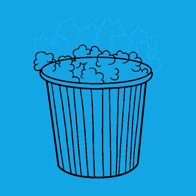 How to Draw Popcorn: Step 7