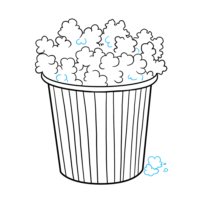 How to Draw Popcorn: Step 9