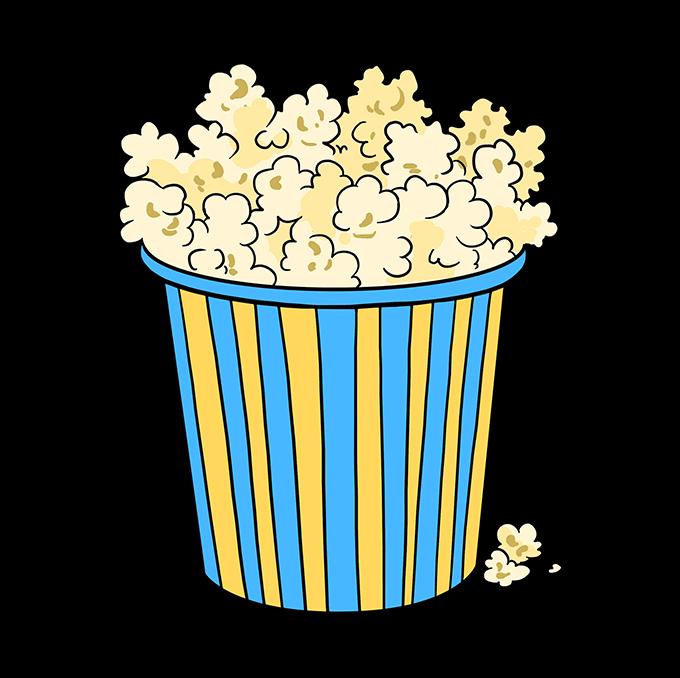 How to Draw Popcorn: Step 10