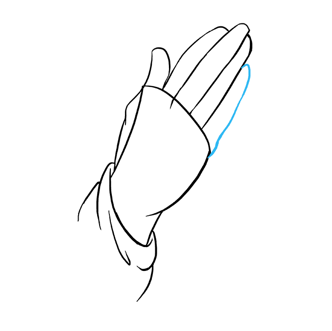 How to Draw Praying Hands: Step 6