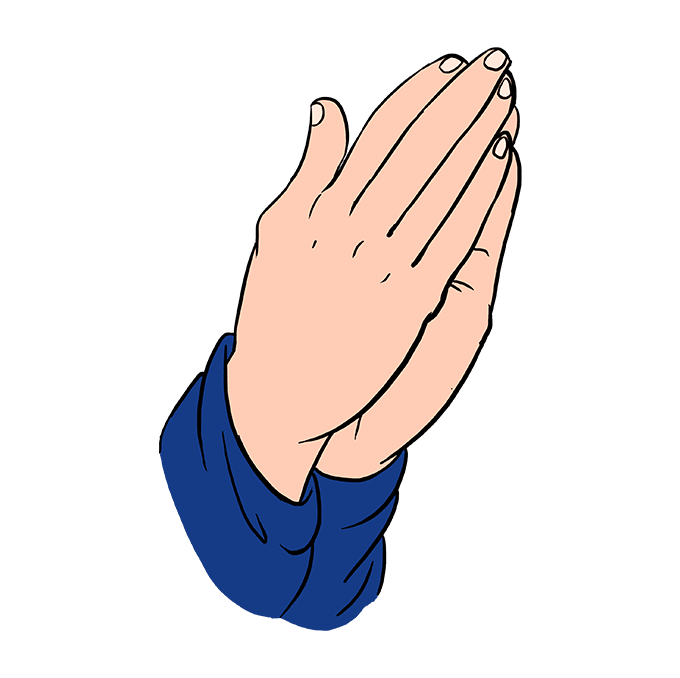 How to Draw Praying Hands - Really Easy Drawing Tutorial