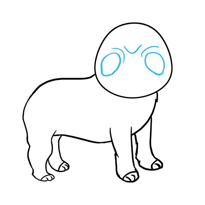 How to Draw Pug: Step 6