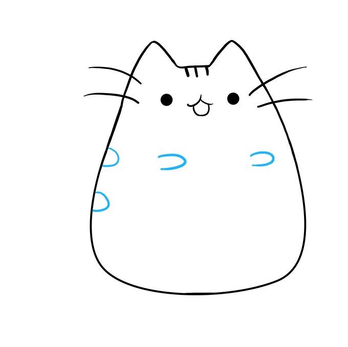 How to Draw Pusheen the Cat: Step 7