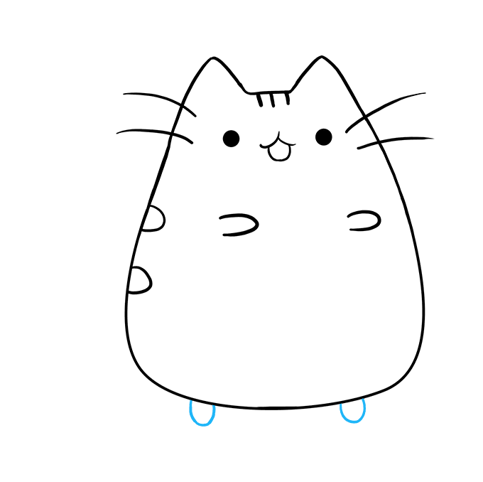 How to Draw Pusheen the Cat: Step 8