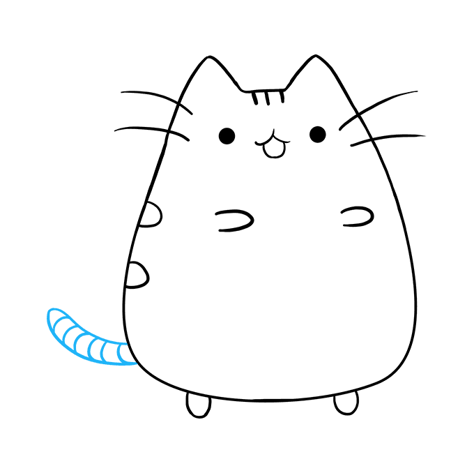 How to Draw Pusheen the Cat: Step 9