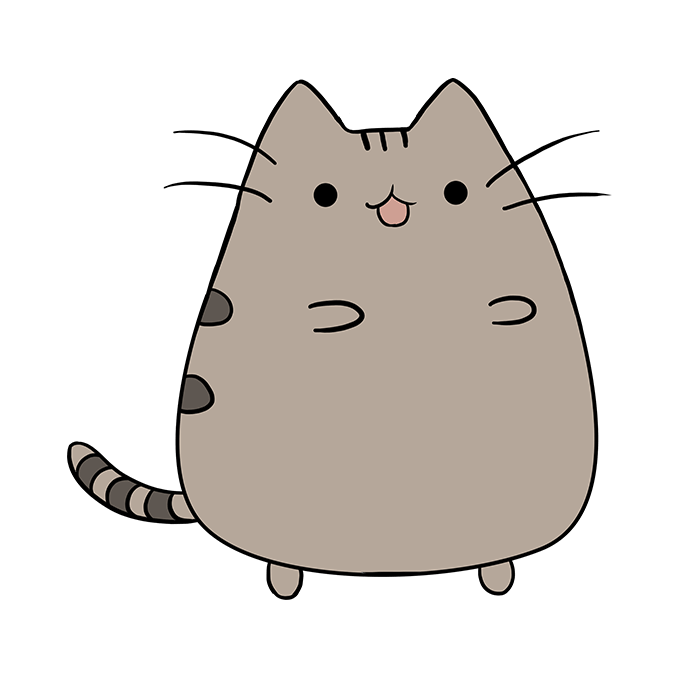 How to Draw Pusheen the Cat: Step 10