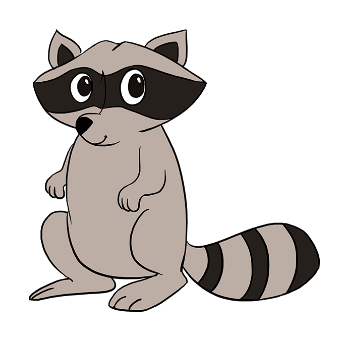 How to Draw Raccoon: Step 10