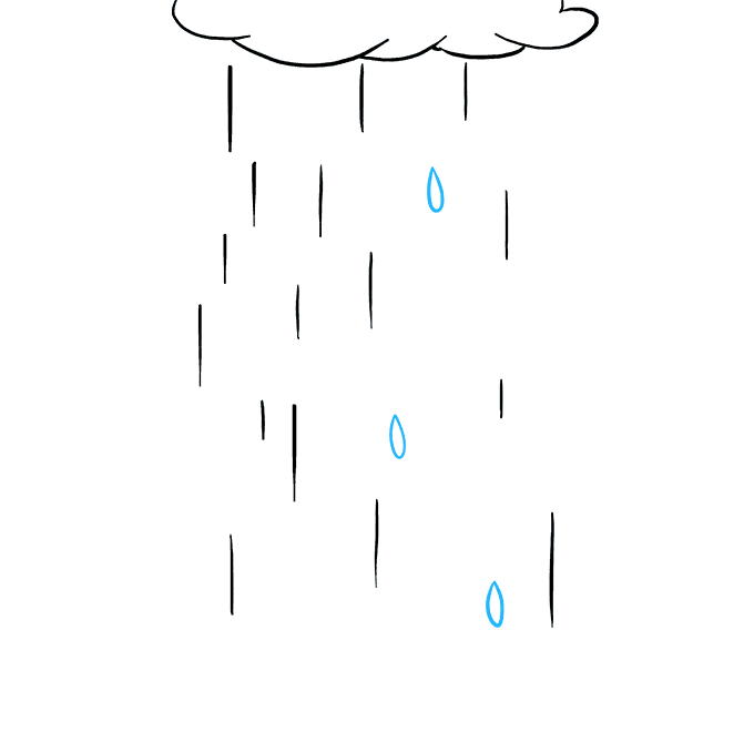 How to Draw Rain: Step 5