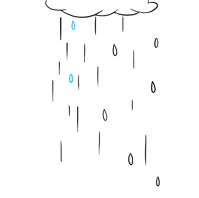 How to Draw Rain: Step 7