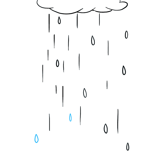 How to Draw Rain: Step 8