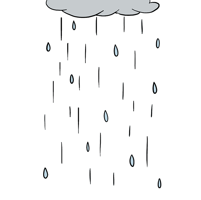 How to Draw Rain: Step 10