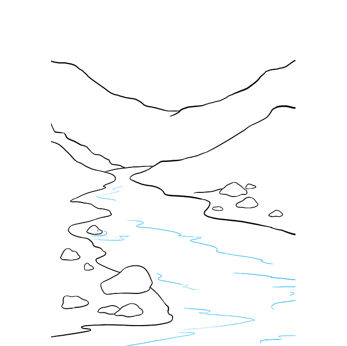 How to Draw River: Step 7