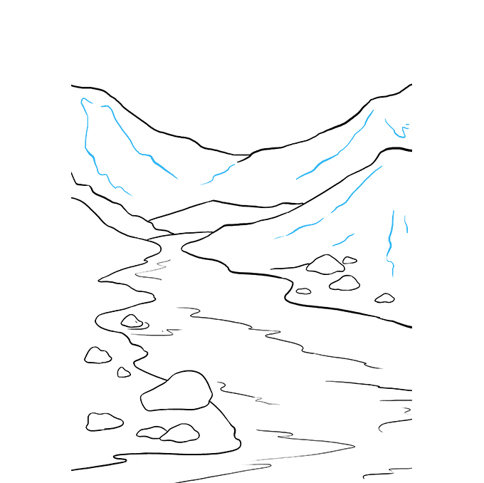 How to Draw River: Step 9