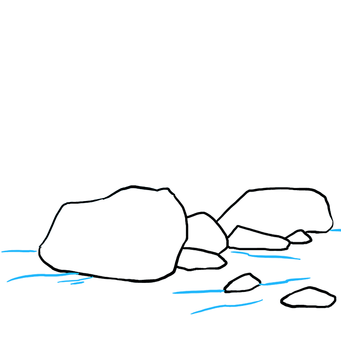 How to Draw Rocks: Step 8