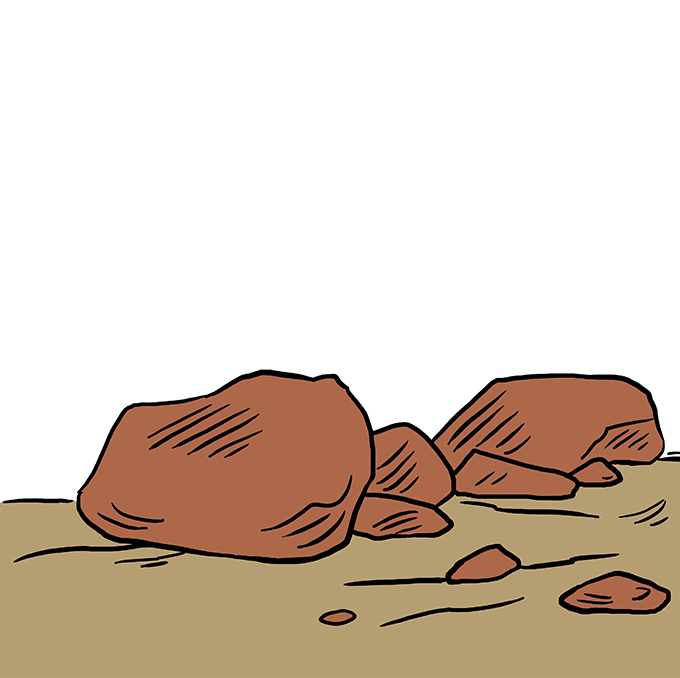 How to Draw Rocks: Step 10