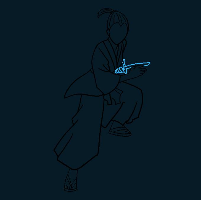 How to Draw Samurai: Step 8