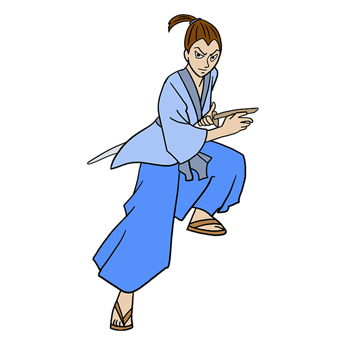 How to Draw Samurai: Step 10
