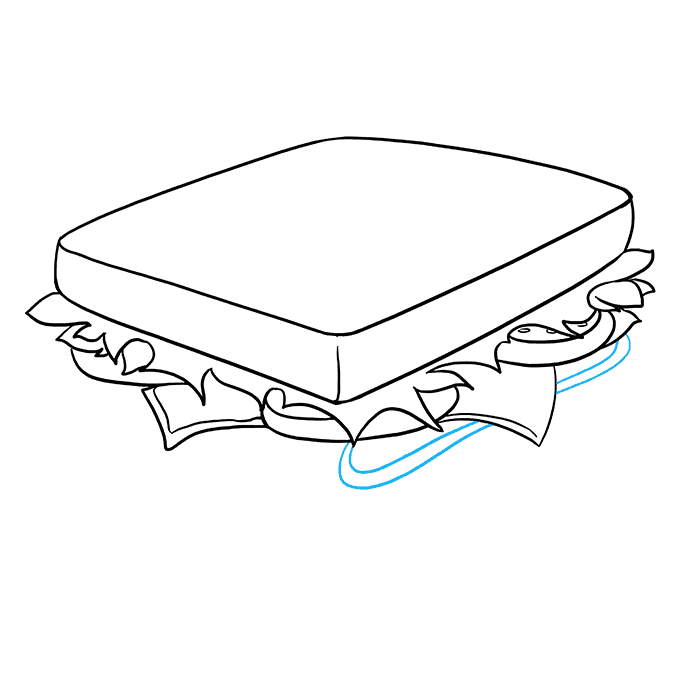 How to Draw a Sandwich Step 07