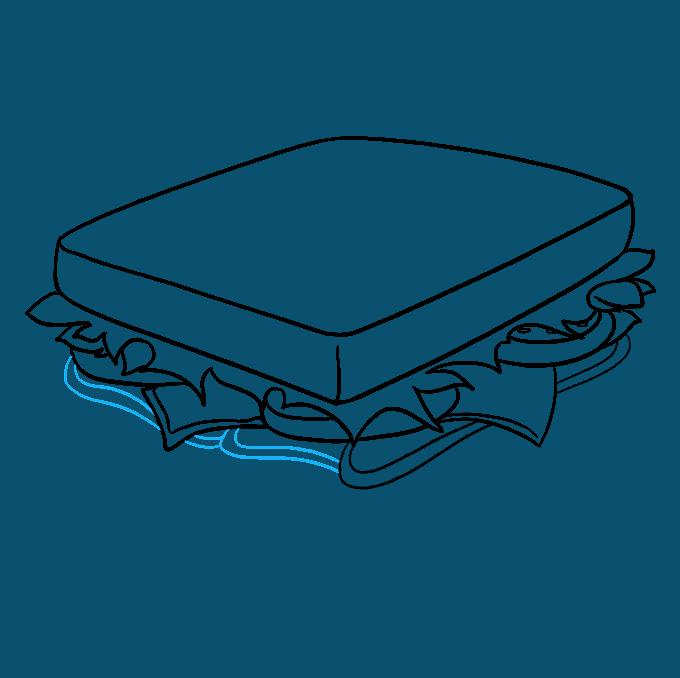 How to Draw a Sandwich Step 08