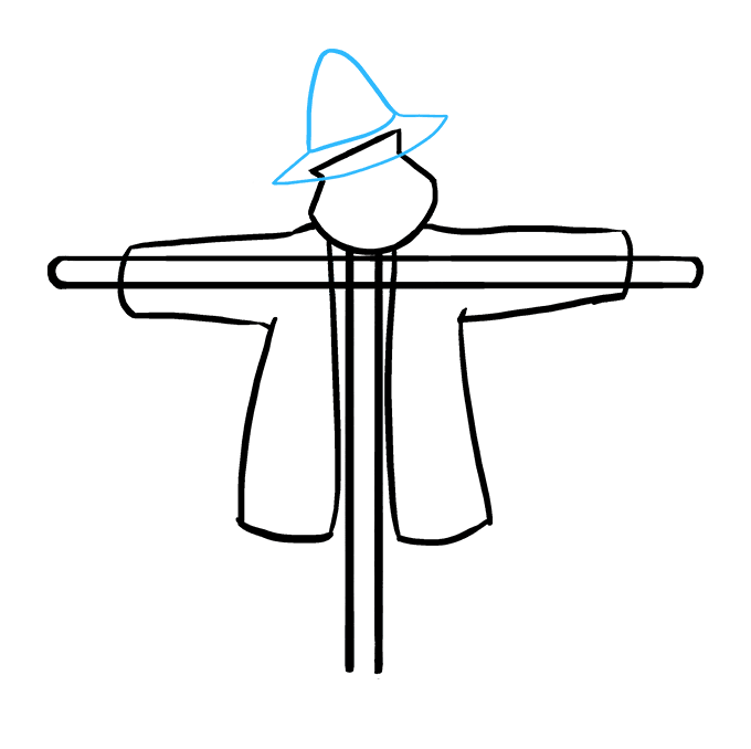 How to Draw Scarecrow: Step 5