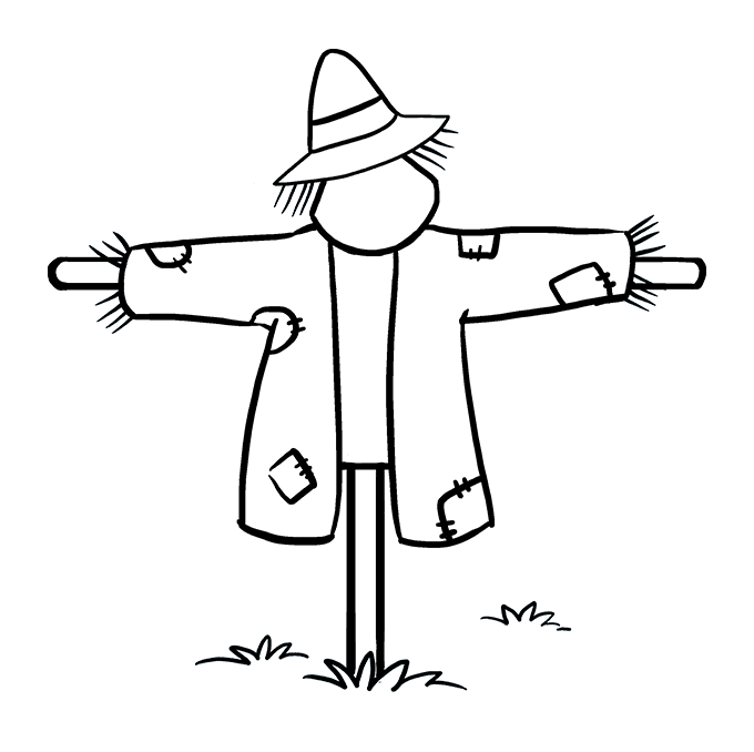 How to Draw Scarecrow: Step 8