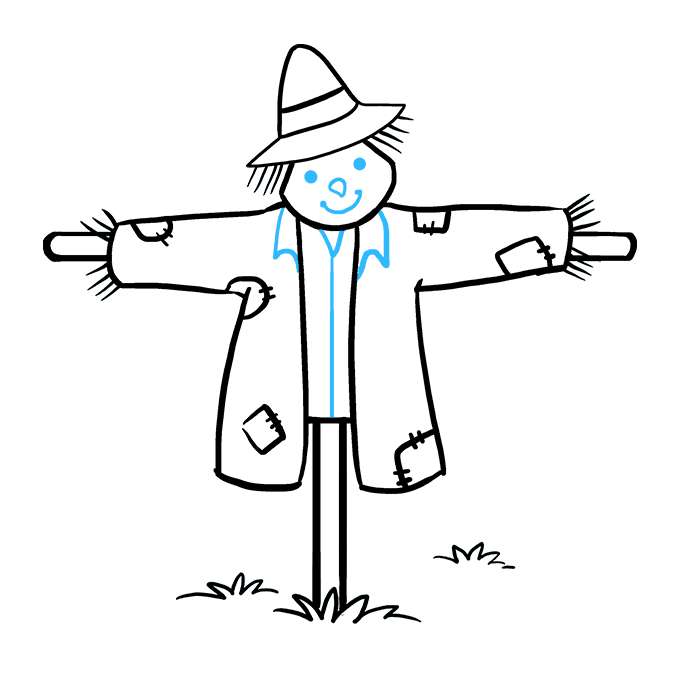 How to Draw Scarecrow: Step 9