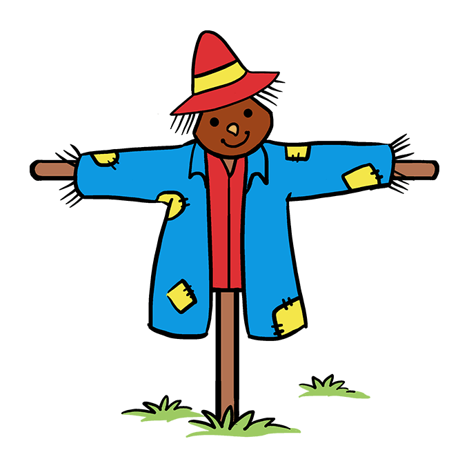 How to Draw Scarecrow: Step 10
