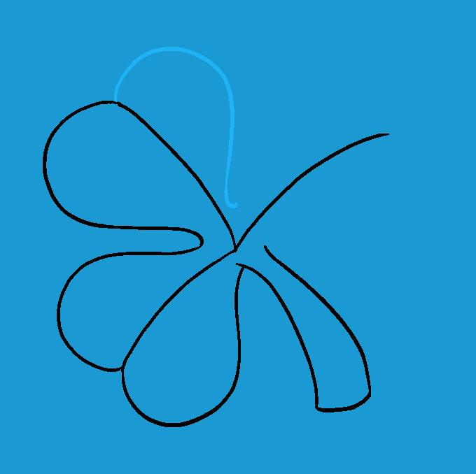 How to Draw Shamrock Step 06
