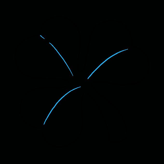 How to Draw Shamrock Step 09